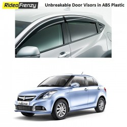 Buy Unbreakable Swift Dzire Door Visors in ABS Plastic at low prices-RideoFrenzy