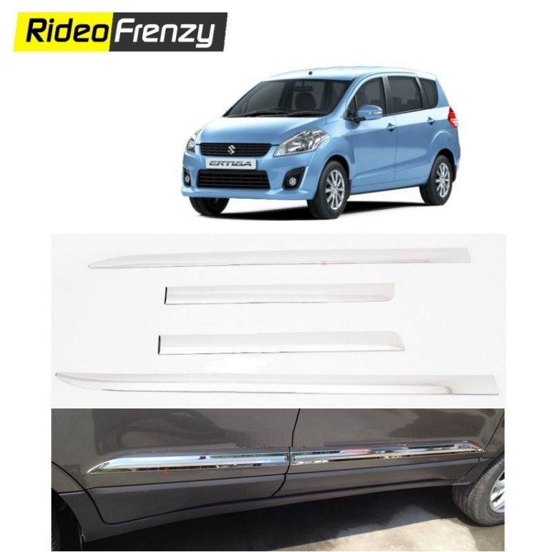 Buy Stainless Steel Maruti Ertiga Chrome Side Beading Online at low prices-RideoFrenzy