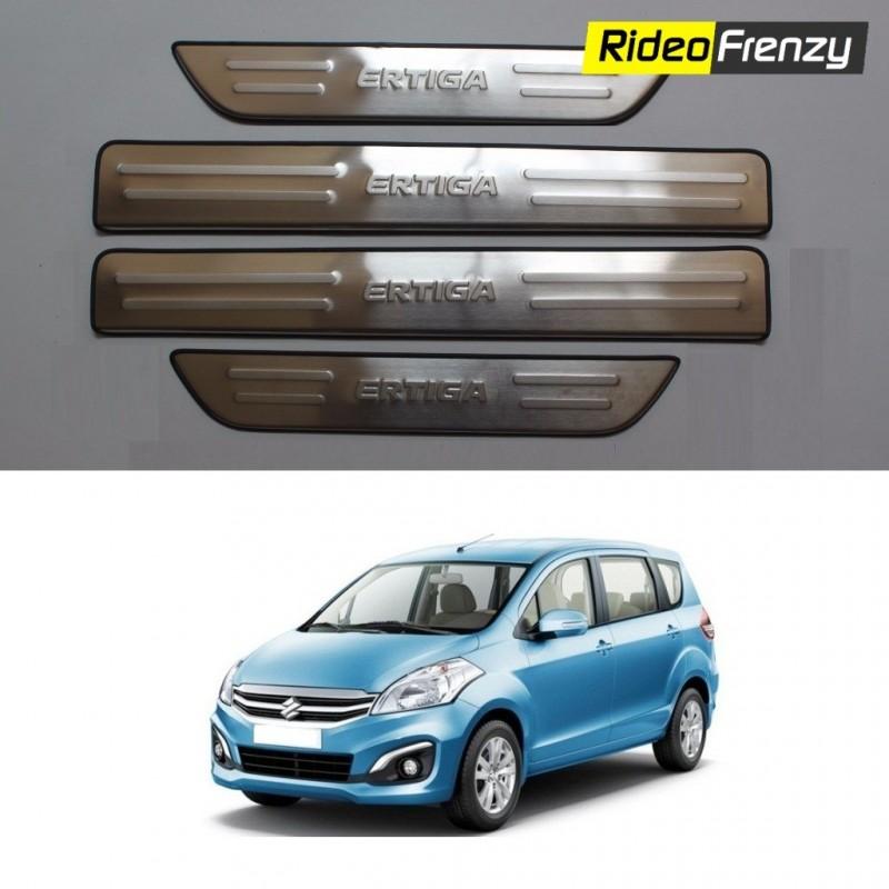 Buy Original OEM Maruti Ertiga Door Stainless Steel Sill Plate at low prices-RideoFrenzy