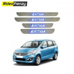 Buy Maruti Ertiga Stainless Steel Sill Plates with Blue LED at low prices-RideoFrenzy