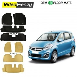 Ultra Light Bucket 4D Crocodile Floor Mats for Maruti Ertiga