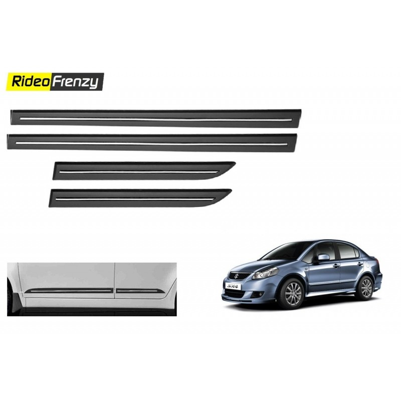 Buy Original OEM Maruti SX4 Black Chrome Side beading at low prices-RideoFrenzy