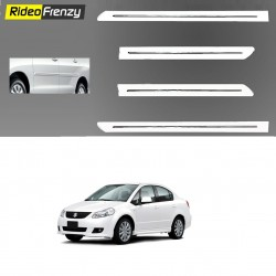 Buy Original OEM Maruti SX4 White Chrome Side beading at low prices-RideoFrenzy