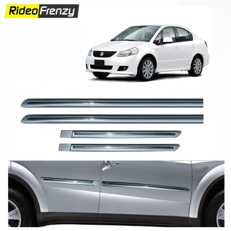 Buy Original OEM Maruti SX4 Silver Chrome Side beading at low prices-RideoFrenzy