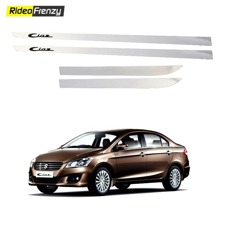 Buy Stainless Steel Maruti Ciaz Chrome Side Beadiing online at low prices-RideoFrenzy