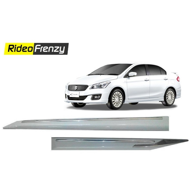 Buy Maruti Ciaz White Chromed Side Beading at low prices-RideoFrenzy