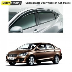 Unbreakable Maruti Ciaz Door Visors in ABS Plastic