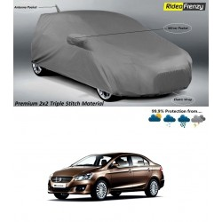 Buy Premium Fabric Maruti Ciaz Body Cover with Mirror & Antenna Pockets at low prices-RideoFrenzy