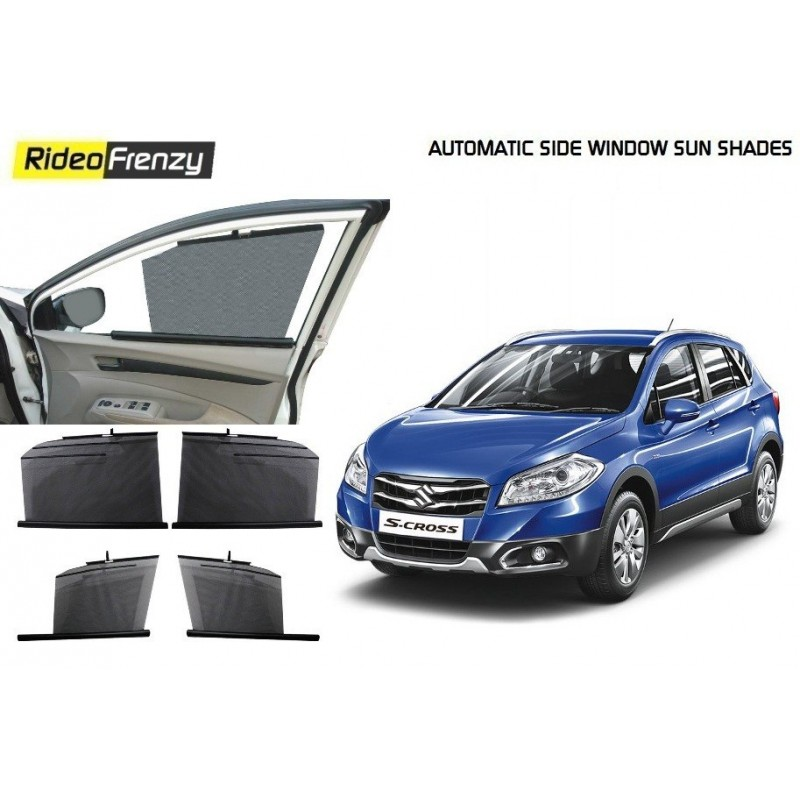Buy Maruti S-CROSS Automatic Side Window Sun Shades at low Prices-RideoFrenzy