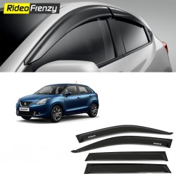 Buy Unbreakable Maruti Baleno Door Visors in ABS Plastic at low prices-RideoFrenzy