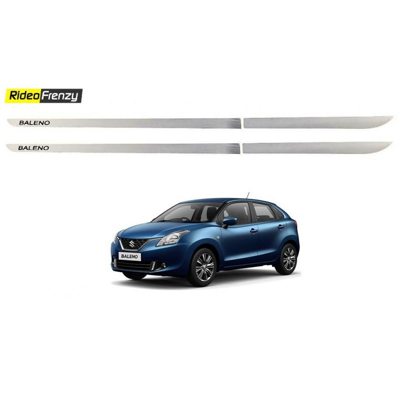 Buy Triple layered Maruti New Baleno Chrome Side Beading at low prices-RideoFrenzy