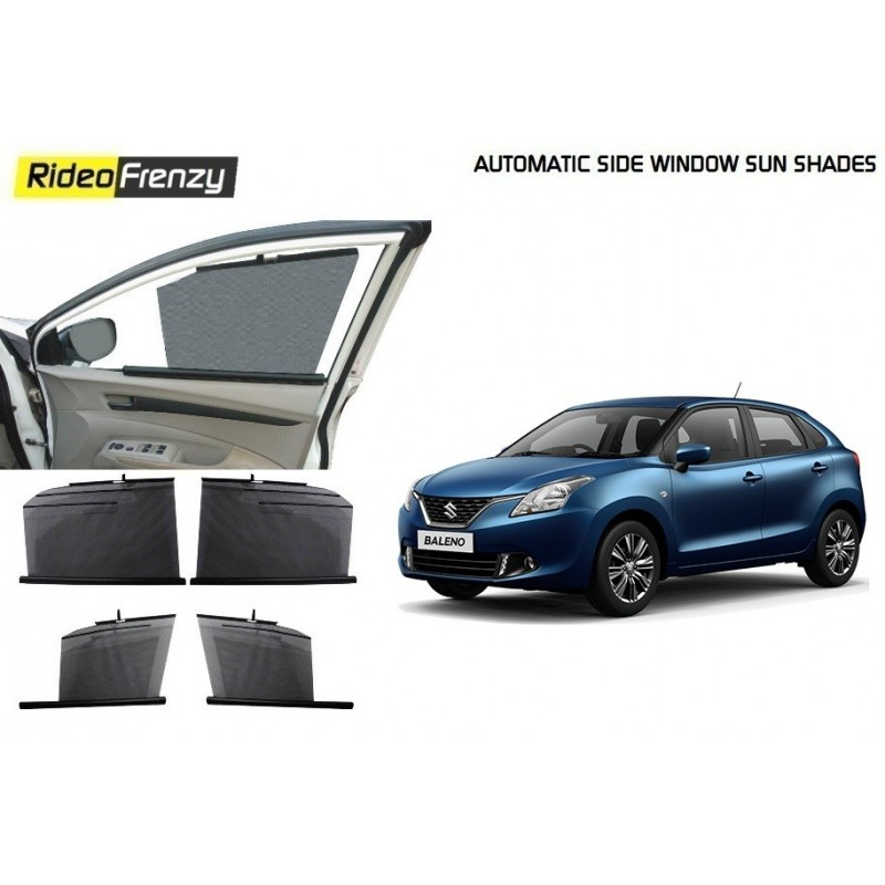 Buy Maruti Baleno Automatic Side Window Sun Shade at low prices-RideoFrenzy