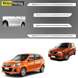 Buy Maruti Alto K10 White Chromed Side beading at low prices-RideoFrenzy