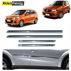 Buy Maruti Alto K10 Silver Chromed Side beading at low prices-RideoFrenzy