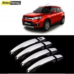 Buy Vitara Brezza Door Chrome Handle Covers at low prices-RideoFrenzy