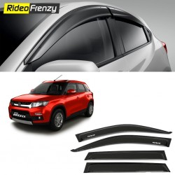 Buy Unbreakable Maruti Vitara Brezza Door Visors in ABS Plastic at low prices-RideoFrenzy