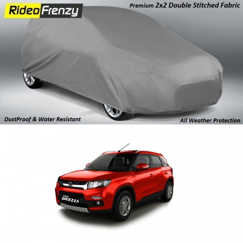 Buy Heavy Duty Double Stiching Vitara Brezza Body Cover at low prices-RideoFrenzy