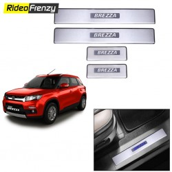Buy Maruti Vitara Brezza Door Stainless Steel Sill Plate online at low prices-RideoFrenzy