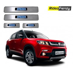 Buy Maruti Vitara Brezza Door Stainless Steel Sill Plate with Blue LED at low prices-RideoFrenzy