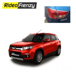 Buy Premium Vitara Brezza Chrome Tail Light Cover at low prices-RideoFrenzy