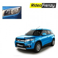 Buy Premium Vitara Brezza Chrome Head Light Covers at low prices-RideoFrenzy