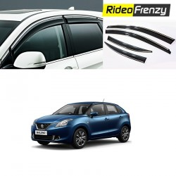 Maruti Baleno Chrome Line Door Visors in ABS Plastic
