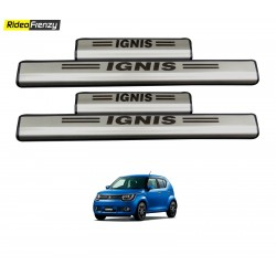 Maruti Ignis Stainless Steel Door Scuff Sill Plate with blue LED