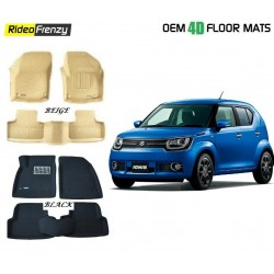Buy Ultra Light Bucket 3D Crocodile Floor Mats for Maruti Ignis at low prices-RideoFrenzy