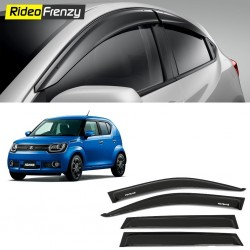 Buy Unbreakable Maruti Ignis Door Visors in ABS Plastic at low prices-RideoFrenzy