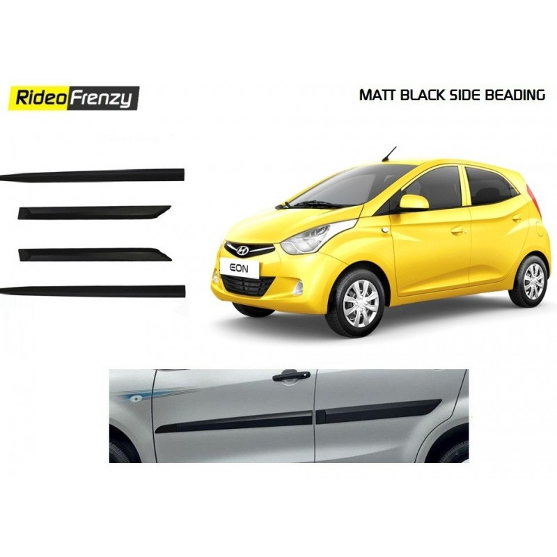 Buy Original Hyundai Eon Matt Black Side Beading at low prices-RideoFrenzy