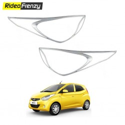 Buy Hyundai Eon Chrome HeadLights covers online at low prices-RideoFrenzy