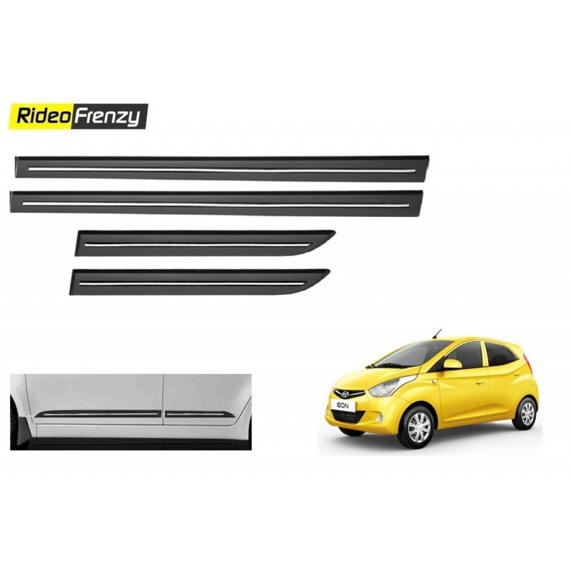 Buy Hyundai Eon Black Chromed Side beading at low prices-RideoFrenzy