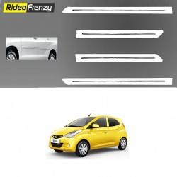 Buy Hyundai Eon White Chromed Side beading online at low prices-RideoFrenzy
