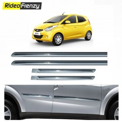 Buy Hyundai Eon Silver Chromed Side beading online at low prices-RideoFrenzy