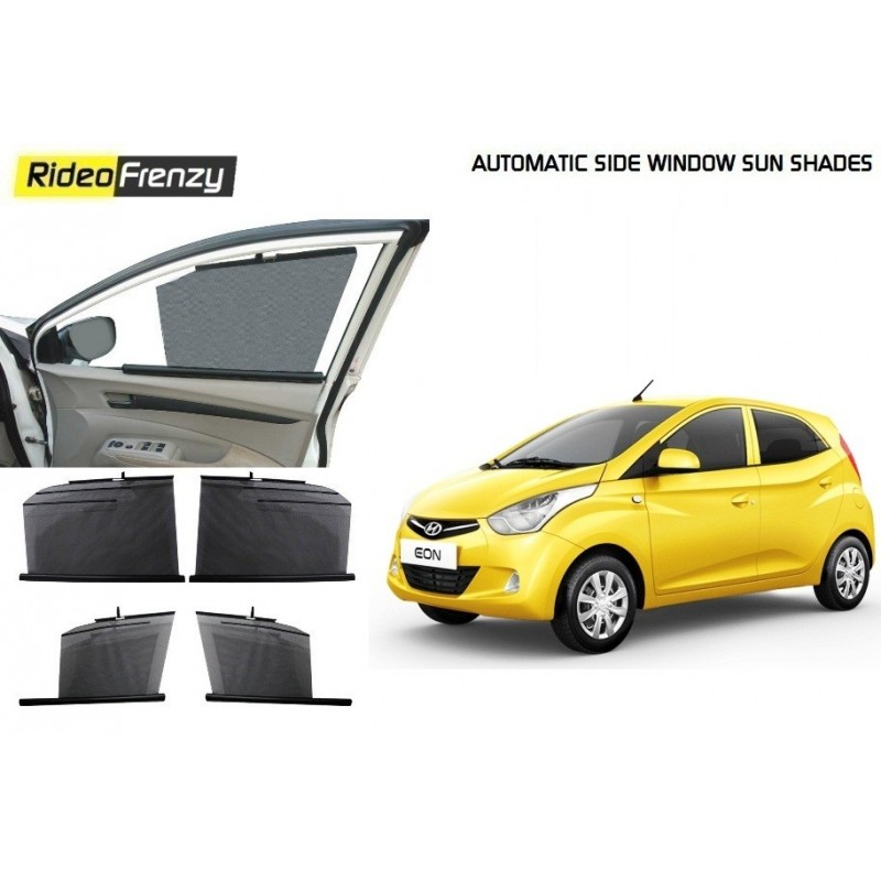 Buy Hyundai Eon Automatic Side Window Sun Shades online at low prices-RideoFrenzy