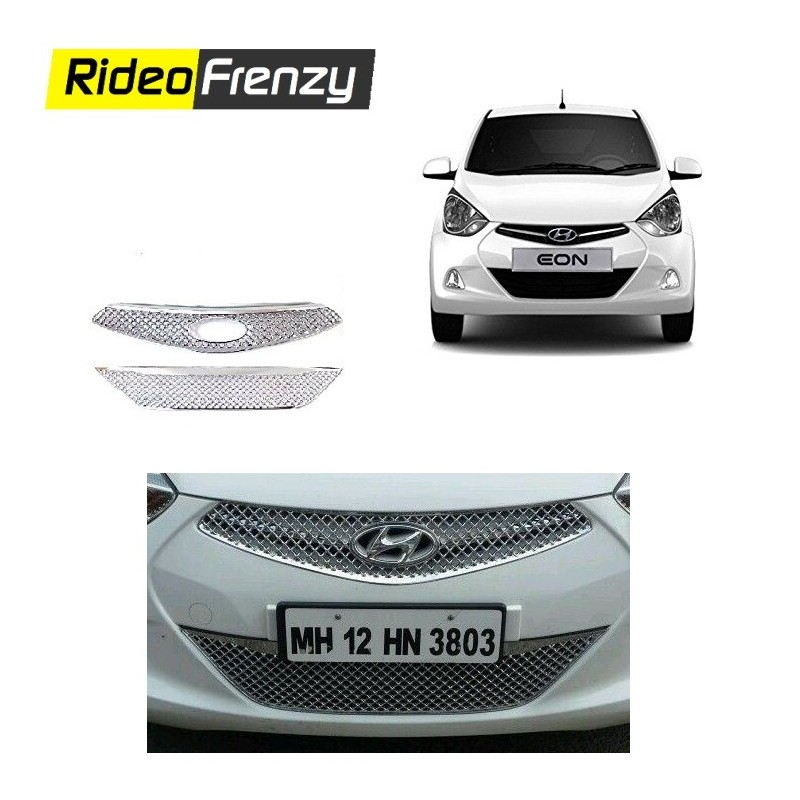 Buy Premium Hyundai Eon Front Chrome Grill(Upper+Lower) at low prices-RideoFrenzy