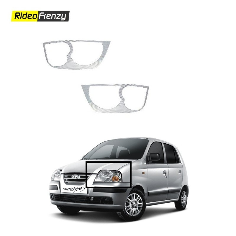 Buy Hyundai Santro Xing Chrome HeadLight Covers at low prices-RideoFrenzy