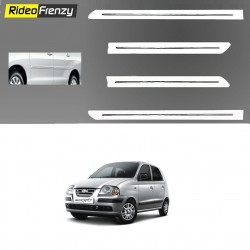 Buy Hyundai Santro Xing White Chromed Side Beading at low prices-RideoFrenzy