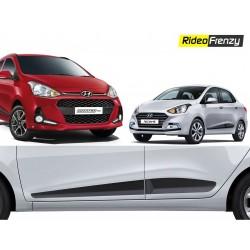 Buy Original Hyundai Grnad i10 & Xcent Matt Black Side Beading at low prices-RideoFrenzy