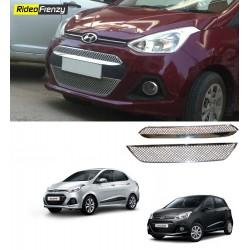Buy Grand i10/Xcent Full Front Chrome Grills (Upper + Lower) at low prices-RideoFrenzy