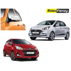 Buy Hyundai Grand i10 & Xcent Chrome Side Mirror Covers-Triple layered chrome at low prices-RideoFrenzy