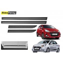 Buy Grand i10 & Xcent Black Chromed Side Beading at low prices-RideoFrenzy