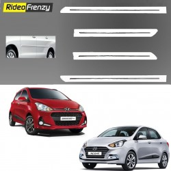 Buy Hyundai Grand i10 & Xcent White Chromed Side beading at low prices-RideoFrenzy