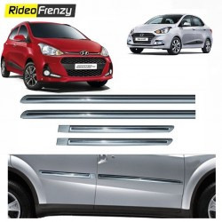 Buy Hyundai Grand i10 & Xcent Silver Chromed Side beading at low prices-RideoFrenzy