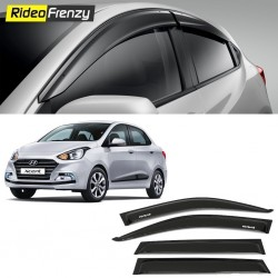 Buy Unbreakable Hyundai Xcent Door Visors in ABS Plastic at low prices-RideoFrenzy