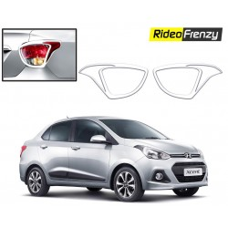 Buy Hyundai Xcent Chrome Tail Light Covers at low prices-RideoFrenzy