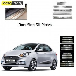 Buy Hyundai Xcent Stainless Steel Door Scuff Sill Plate at low prices-RideoFrenzy