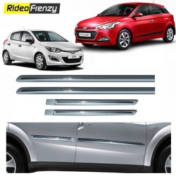 Buy Hyundai i20 & Elite i20 Silver Chromed Side beading at low prices-RideoFrenzy