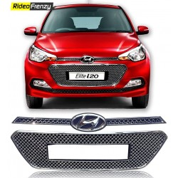 Buy Premium Hyundai Elite i20 Chrome Grill Covers at low prices-RideoFrenzy