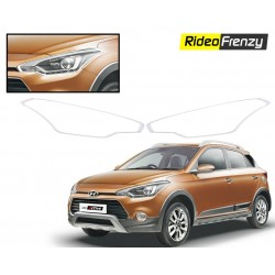 Buy Premium Hyundai Elite i20 / Active Chrome HeadLight Covers at low prices-RideoFrenzy